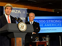 Secretary Kerry Delivers Remarks at the Launch of the 100,000 Strong in the Americas Partnership www.flickr.com/photos/statephotos/12002705736/