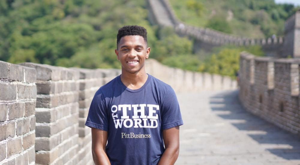 Student on the Great Wall of China