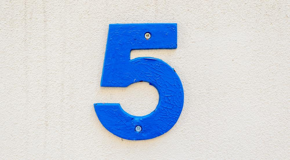 Number 5 house number