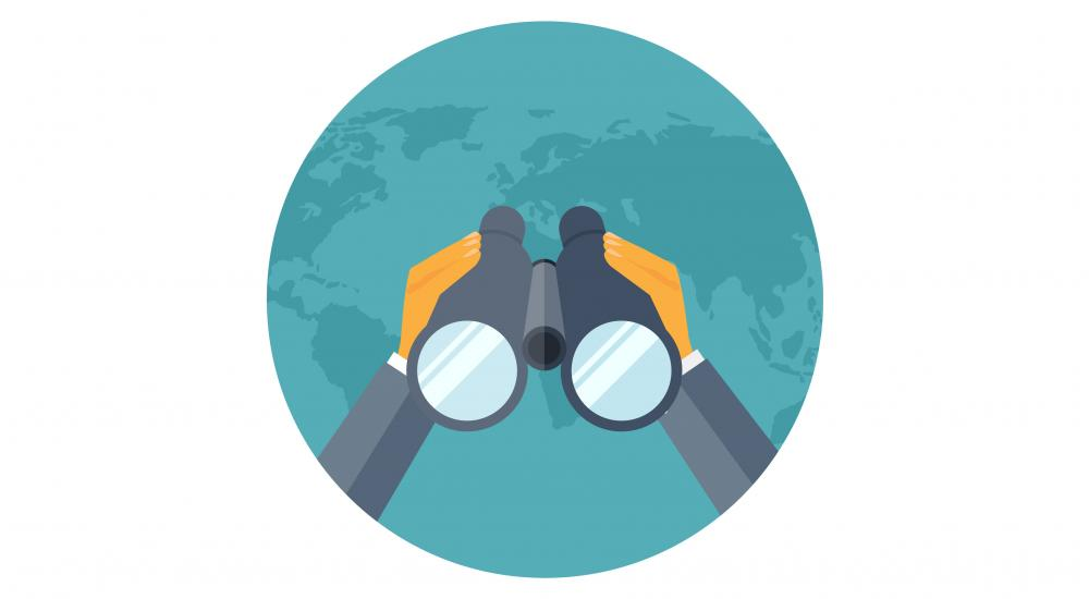illustration of a person holding binoculars