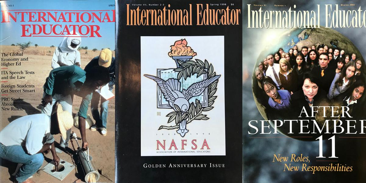 International Educator cover images through the years