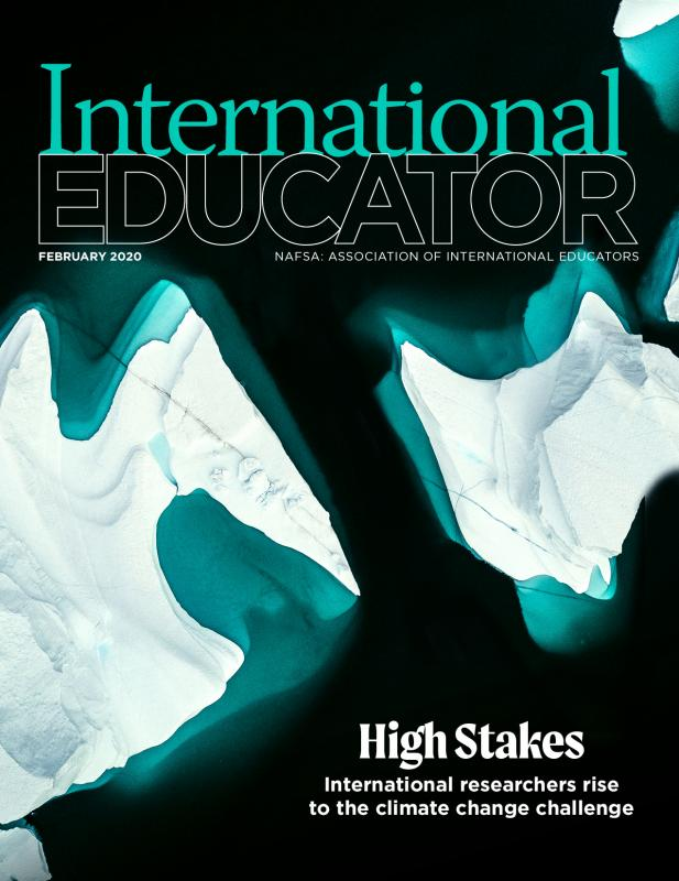 Cover of the February 2020 issue of International Educator magazine