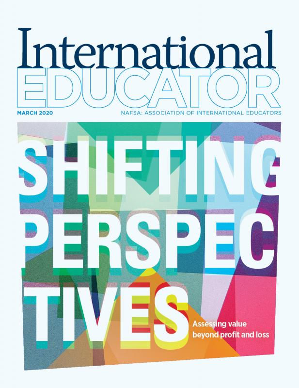 Cover of the March 2020 issue of International Educator