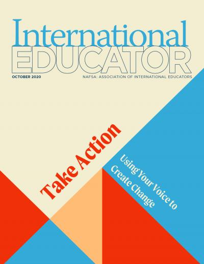 Cover for the October 2020 issue of International Educator