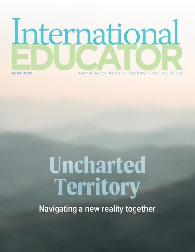 Cover image of the April issue of IE