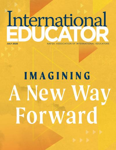 Cover for the July 2020 issue of International Educator