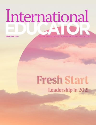 Cover for the January 2021 issue of International Educator