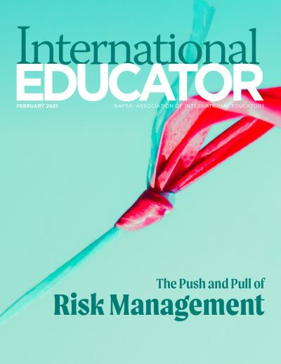 Cover for the February 2021 issue of International Educator