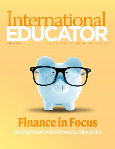 Cover image for the March 2021 issue of International Educator