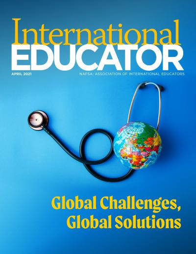 Cover image for the April 2021 issue of International Educator