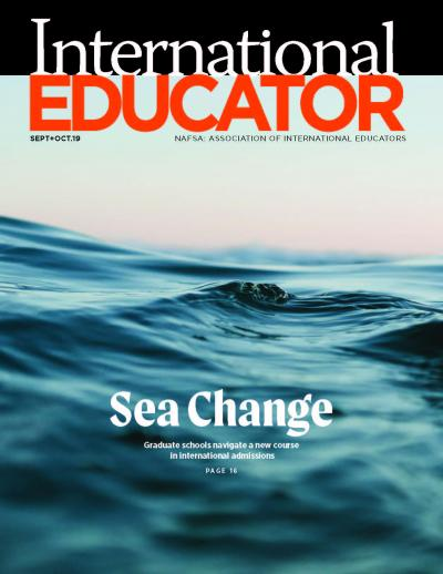 Cover image of the September October 2019 issue of IE.