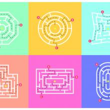 Several illustrations of labyrinths